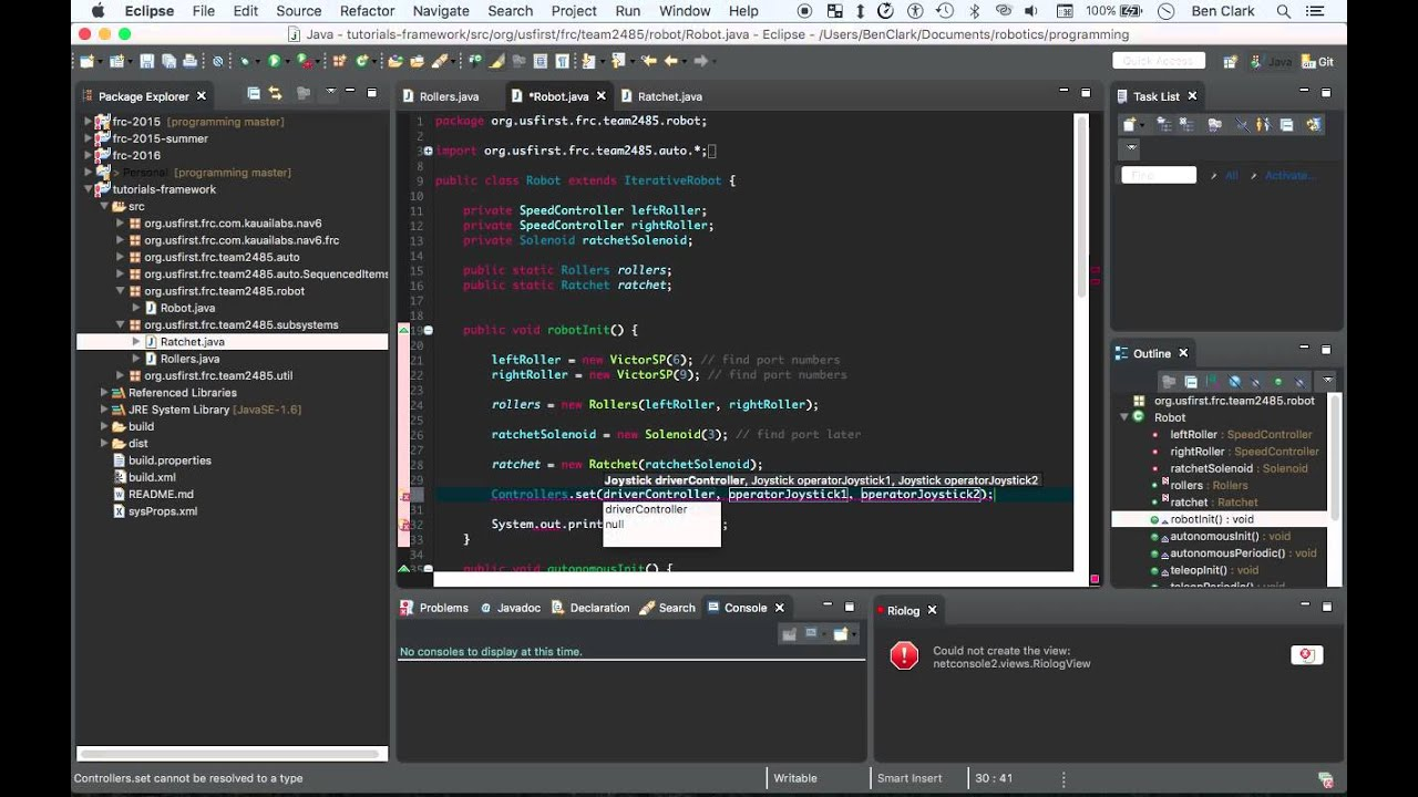 FRC Java Programming Tutorial - 12 - Controllers Part 1 - YouTube