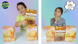 Twin Telepathy Cake Challenge! Schwester vs. Bruder | Telepathie Kuchen Zwillinge | Johann Loop
