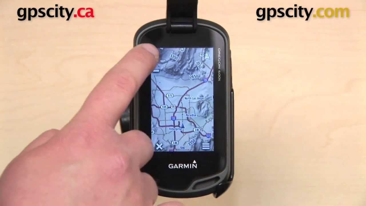 Garmin Oregon 600 Series Map Setup with GPS City YouTube