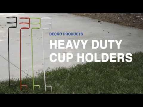 Decko Heavy Duty Outdoor Beverage Drink Holder Stakes