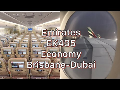 EK435 | Emirates A380 Economy | Brisbane-Dubai | 25/6/2019