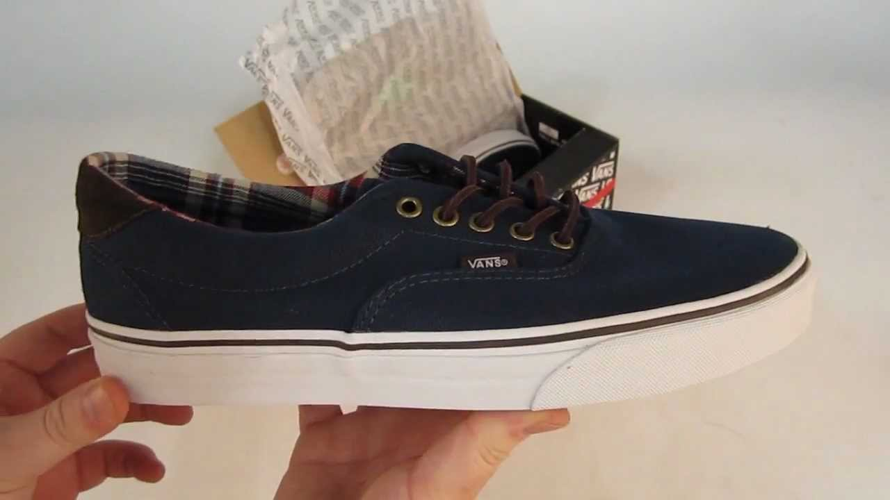 Vans Era 59 Shoes Unboxing - (C P) Navy - YouTube fa558c695