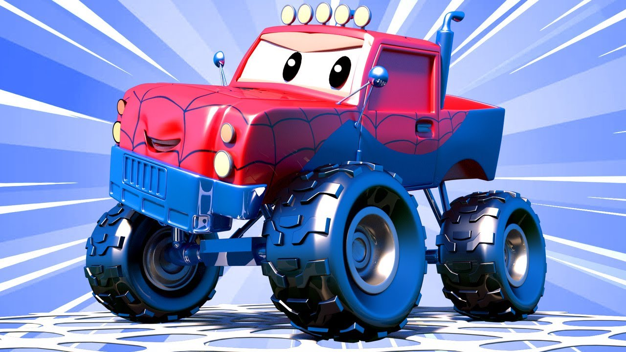 những chiếc xe tải dành cho thiếu nhi Marley XE TẢI QUÁI VẬT là NGƯỜI NHỆN! - cửa hàng sơn của Tom