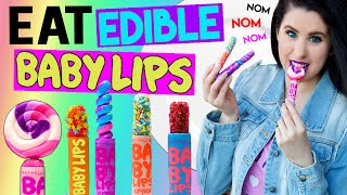 DIY Edible Baby Lips! | EAT Baby Lips! | How To Make The FIRST EATABLE Baby Lips Lip Balm!