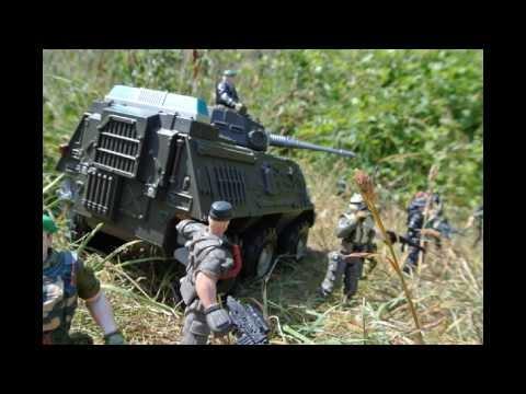 Chap Mei irregular troops in APC relieving regular army troops