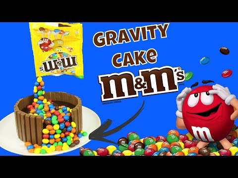 ♡•-recette-gravity-cake-m&m's-|-avec-un-glacage-miroir-chocolat-•♡
