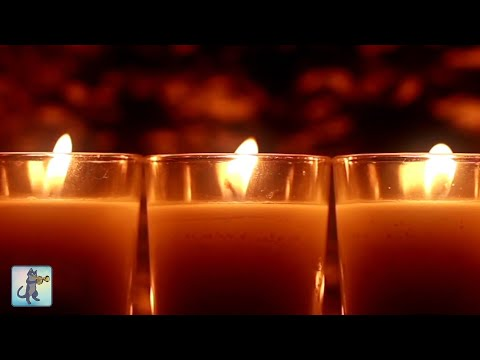 3 HOURS Best Relaxing Music 2017: Burning Candles & Piano Music 1080p HD
