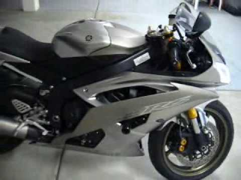 2008 Yamaha R6 Liquid Silver