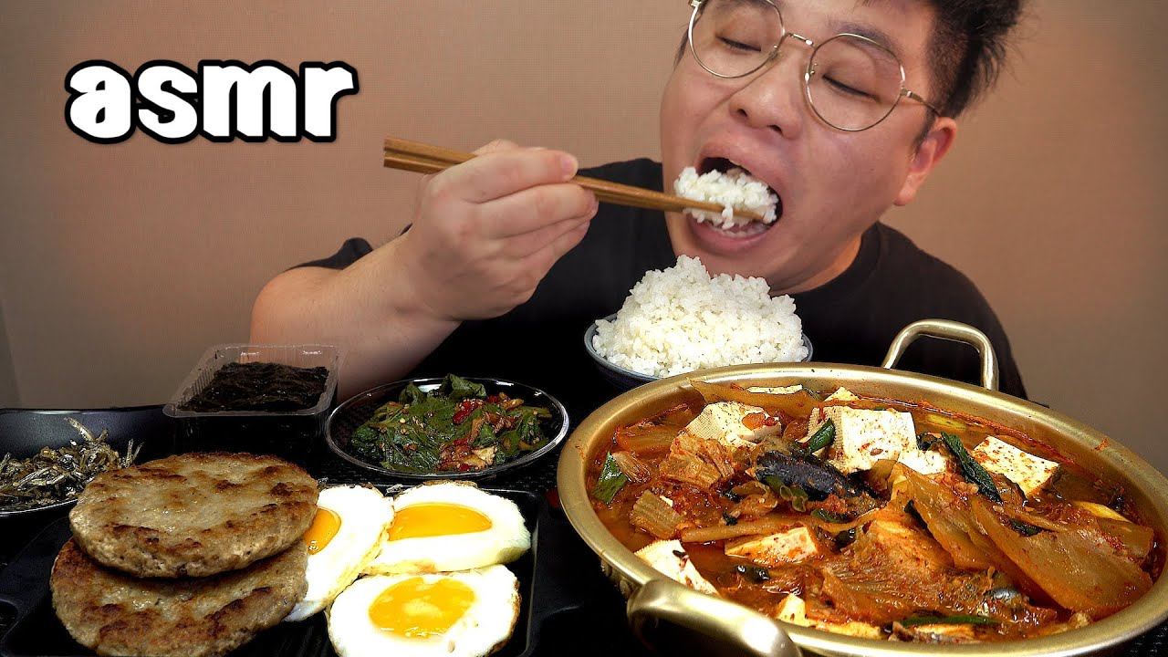 먹방창배tv 꽁치김치찌개와 어울리는반찬 총출동 맛사운드 레전드 ggong chi kimchi stew mukbang Legend koreanfood asmr