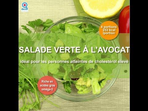 salade-verte-à-l'avocat---idéal-pour-les-personnes-atteintes-de-cholesterol-élevé