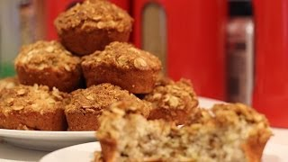 Vegan! Banana-nut Muffins With Crunchy Oat Topping (recipe)
