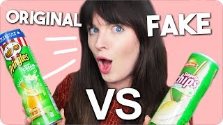 FAKE vs ORIGINAL - Ich teste nachgemachte Süßigkeiten