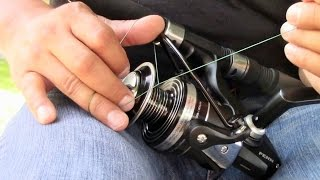 How To Spool A Spinning Reel With No Electrical Tape
