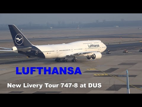 Lufthansa New Livery Tour at Dusseldorf Airport February 2018 4K