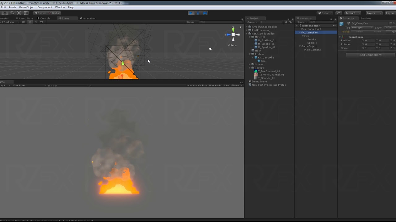 Zelda Stylize / Camp Fire effect