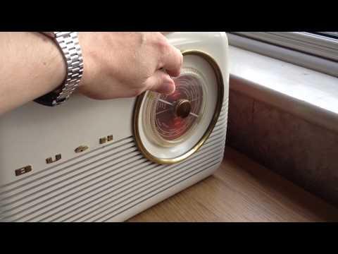 Bush MB60 1958 vintage valve portable radio, Bush TR82 transistor radio predecessor