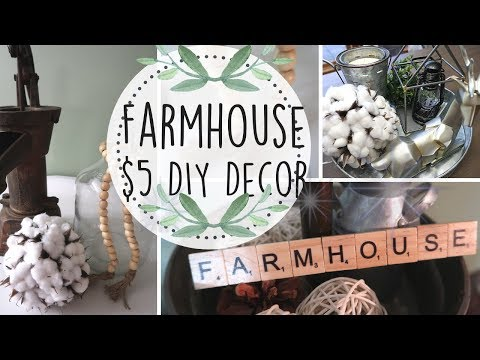 FARMHOUSE DECOR DIY | $5 FARMHOUSE DIYS | BUDGET FRIENDLY | SIMPLE FARMHOUSE DECOR