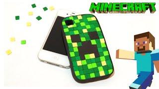 Funda Minecraft para movil o celular, manualidades minecraft DIY funda de creeper
