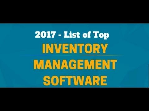 2017 - List of Top Inventory Management Software