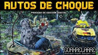 Autos de choque - Proceso de edición digital
