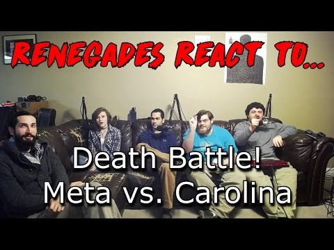 Renegades React to... Death Battle! Meta vs. Carolina