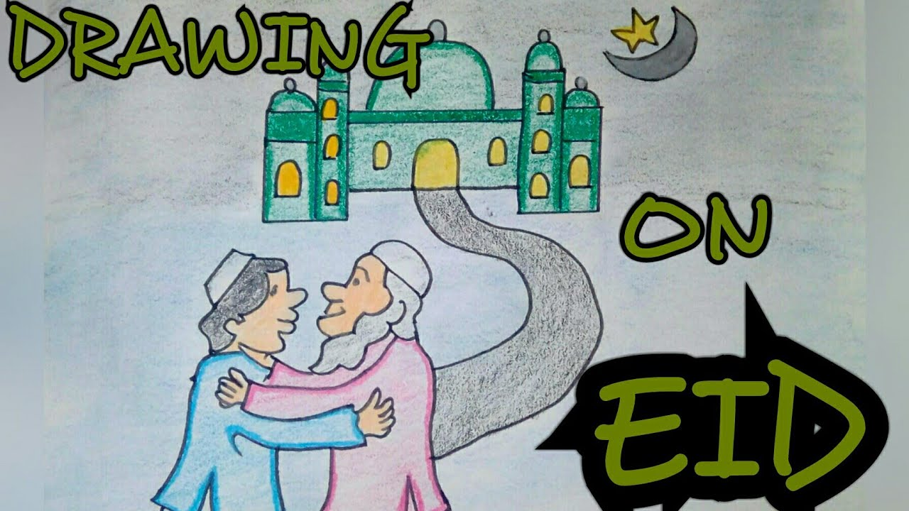 Drawing Tutorial Drawing On Eid Festival Step By Step Easy