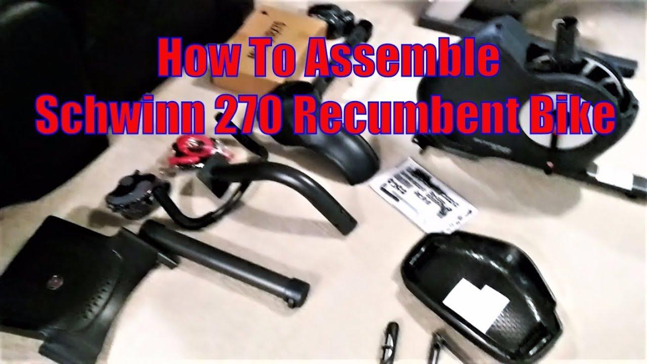 How To Schwinn 270 Recumbent Bike Assembly Youtube
