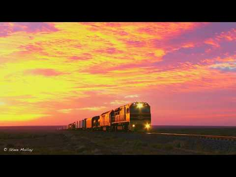 GWA Darwin Trains at Sunrise & Sunset in South Australia