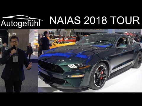 NAIAS Detroit Motor Show 2018 highlights REVIEW TOUR with Ford Mustang Bullitt Autogefhl