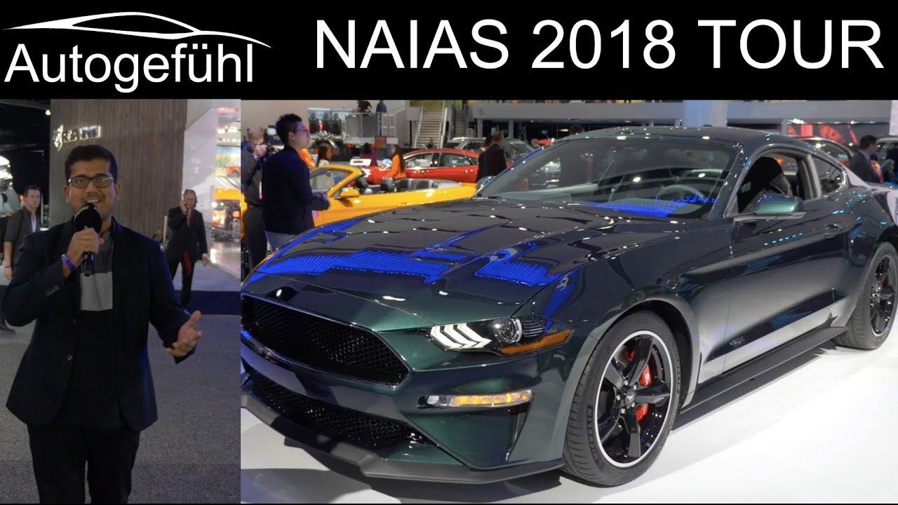 NAIAS Detroit Motor Show 2018 highlights REVIEW TOUR with Ford Mustang Bullitt - Autogefühl - Dauer: 2 Stunden, 43 Minuten