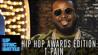 T-Pain Grew Up on CeeLo Green & Talks Who Defines Hip-Hop | Lip Sync Battle: Hip-Hop Awards Edition