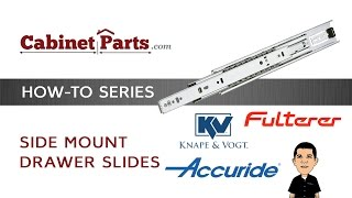 How To Install Side Mount Drawer Slides - Cabinetparts.com