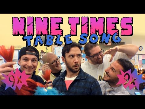 Nine Times Table Song (90's Song Mashup)
