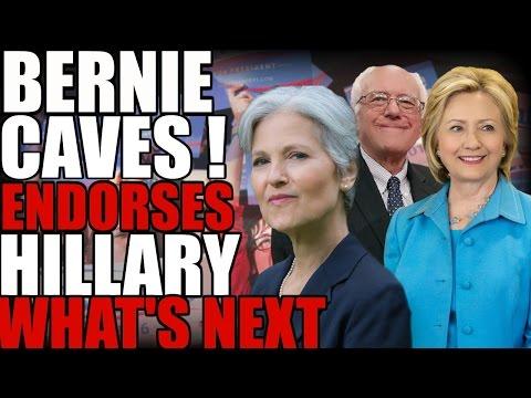 Bernie caves endorses Hillary Clinton what next?   The Millennial Revolt