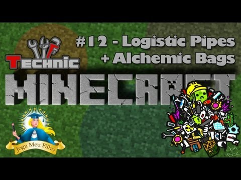 Minecraft Technic #12 - Logistic Pipes + Alchemic Bags