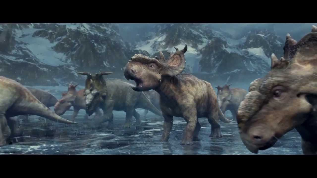 King 3d Name Wallpaper Walking With Dinosaurs The 3d Movie Quot Thin Ice Quot Clip