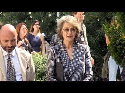 Charlotte Rampling arriving at Hannah press conference at 2017 Venice Film Festival