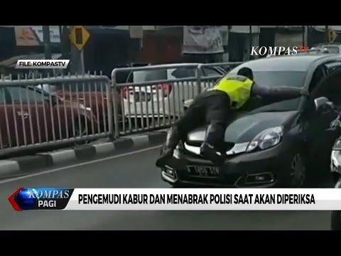 Viral Polisi di Kap Mobil, Pengemudi Minta Maaf