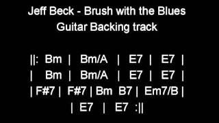 Jeff Beck- Brush with the Blues- Guitar backing track