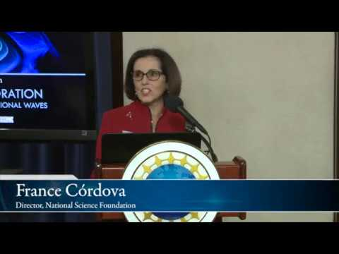 """NSF Director on 1st cosmic event seen in gravitational waves and in """"light"""""""