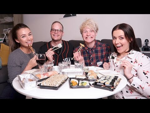 Sushi mukbang ❤ met Kelvin, Nina en foef! | Beautygloss