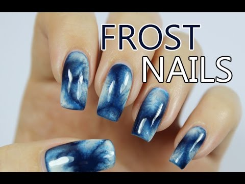 Window Frost Effect Nail Art With Bio Seaweed Gel Polish