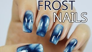 Window Frost Effect Nail Art with Bio Seaweed Gel Polish