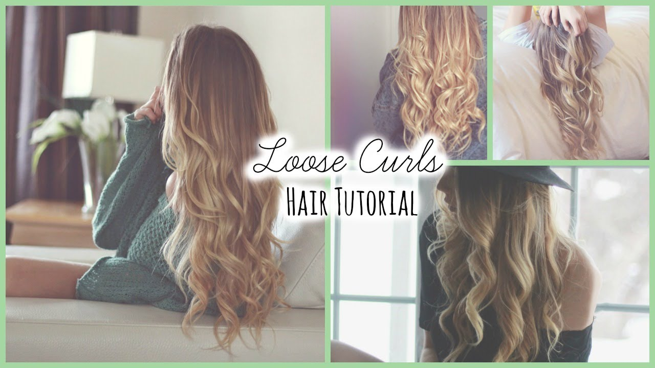 How to curl your hair for loose waves | hair curling tutorial, how.