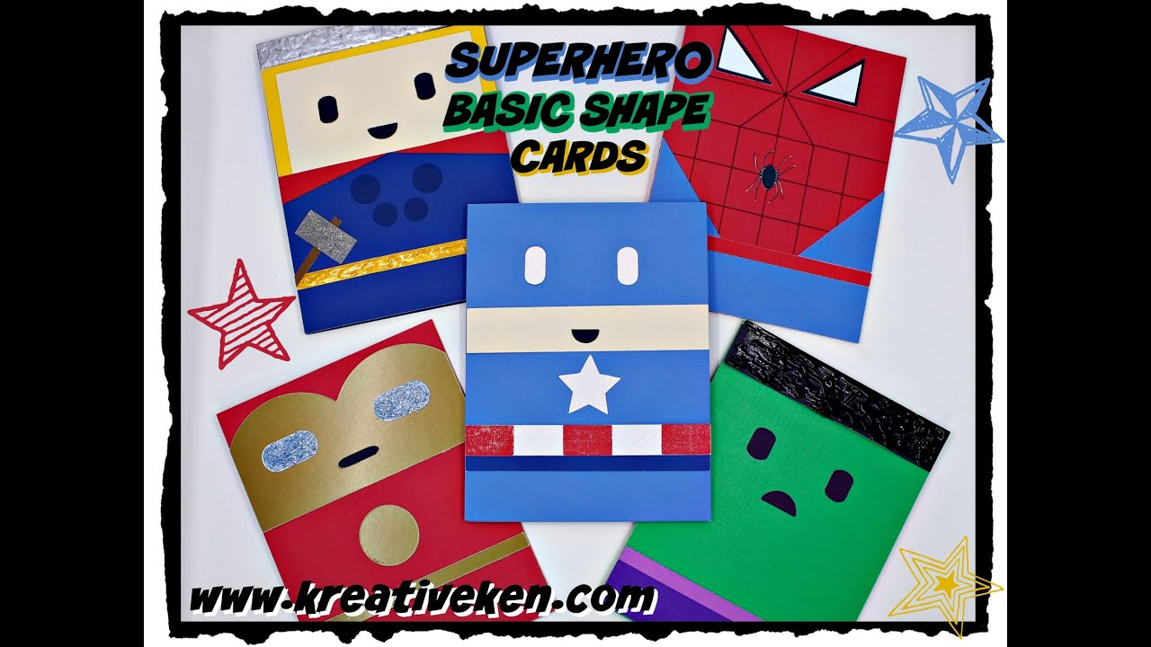 HOW TO MAKE SUPER HERO CARDS YouTube