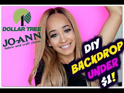 DIY BACKDROPS UNDER $1 - DOLLAR TREE & JOANN'S! | Kym Yvonne