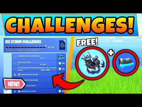 Fortnite ICE STORM CHALLENGES + Event Info and Ice Legion! (Battle Royale Update) thumbnail