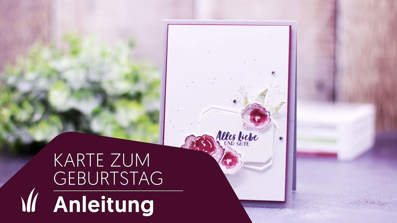 Geburtstagskarte Mit Dem Stempelset Eisblüten Von Stampin Up