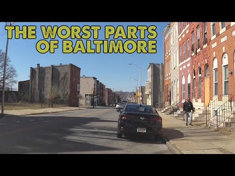 I drove through the WORST parts of Baltimore, Maryland. This is what I saw.