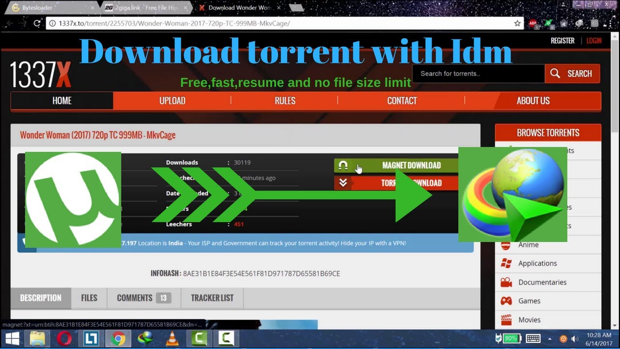 New Download Torrent Files With Idm With Free Fast Resume And